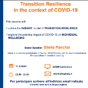Special Event: Transition Resilience in the context of COVID-19