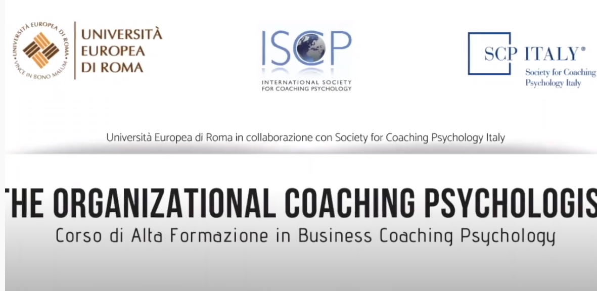 Video The Organizational Coaching Psychologist 2020
